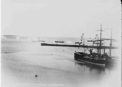 Mock Naval Attack, Oamaru Harbour