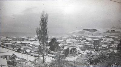 Oamaru under snow. View looking south east