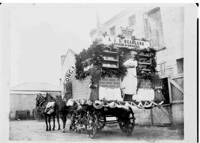 A.J.S. Headland Baker and Grocer. Coronation float