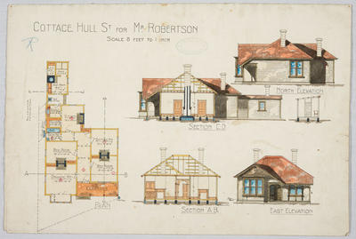 Cottage Hull St for Mr Robertson; Forrester, John Megget (b.1865, d.1965); FG1984.538.1