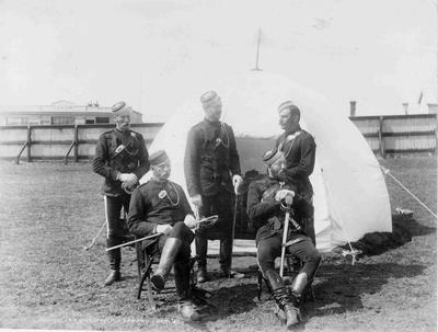 Military (volunteer) Encampment, Arun Street, 3rd October 1887?
