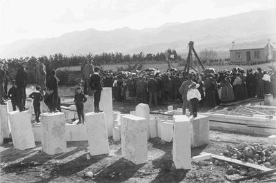 Laying Foundation Stone Duntroon Presbyterian Church circa 1897