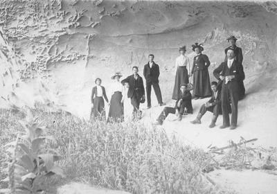 Group at White Rocks, Duntroon 3 January 1903