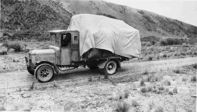 Truck Load of Wool for Ribbonwood station,Omarama circa 1929