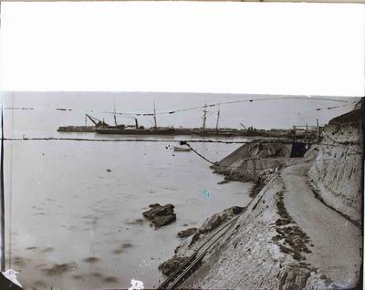 Oamaru Harbour breakwater