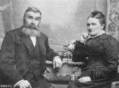 Mr & Mrs Alexander Mackie, Kurow. (Mr Mackie boot and shoemaker.)
