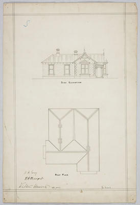 Untitled -  Side Elevation and Roof Plan