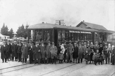 Kurow - first railcar