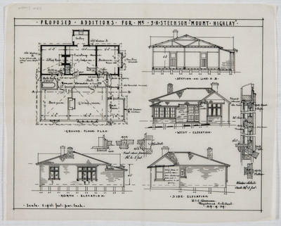 Proposed additions for Mr S.H Steenson 'Mount Highlay'