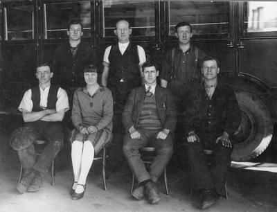 Staff, Kurow Motor Co, 1929.