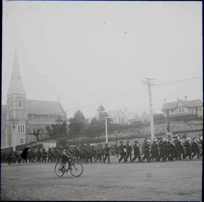 Departure of 10th North Otago Artillery contingent to the First World War