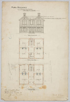 Plan of Residence for J. Strain Esq, Oamaru