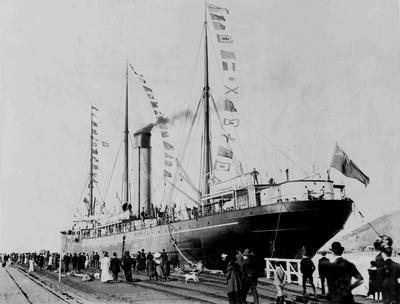 Holmes Wharf opening, SS Waiwera