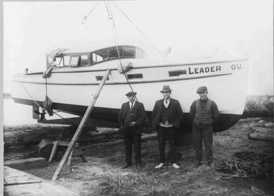 Launch of boat Leader at Cross Wharf
