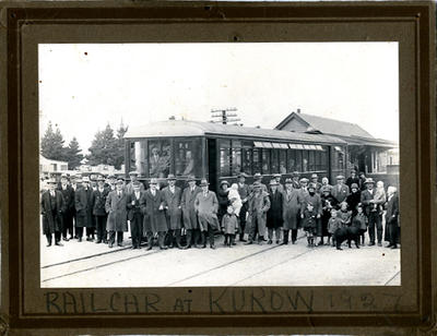 Railcar at Kurow