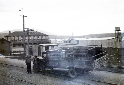 Stock transport. Railway Hotel Kurow
