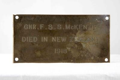 Memorial Oak Plaque