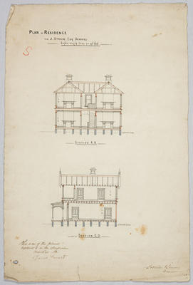 Plan of residence for J.Strain Esq Oamaru