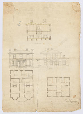 Plan of residence for G. Sumpter Esq, Oamaru
