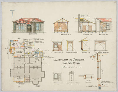 Alterations to Residence for Mrs Taylor; Forrester, John Megget (b.1865, d.1965); FG1984.567.1