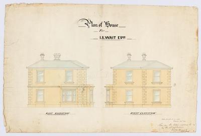 Plan of House for J S Wait Esqr.