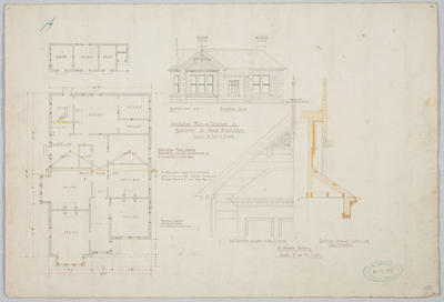 Alternative Plan & Elevation of Residence for David Aitken Esq