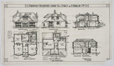 Proposed residence Lower Till Street for H. Barclay Esq