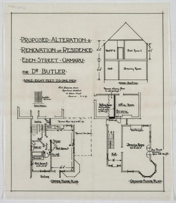 Proposed Alteration and Renovation of Residence, Eden Street, for Dr Butler