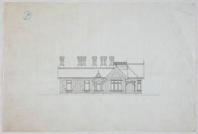 Untitled [Residence Oamaru for J Bulleid Esq - Side View]