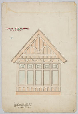Untitled - Large Bay Window [Residence Oamaru for J Bulleid Esq]