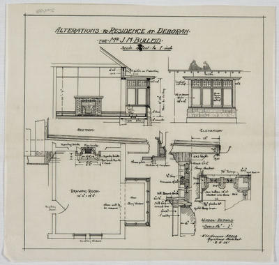 Alterations to Residence at Deborah for Mr J M Bulleid