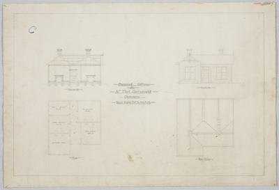 Proposed Cottage for Mr Thos. Cartwright Oamaru