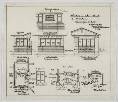 Alterations to Cottage, Waimate, for Mr R Deacon