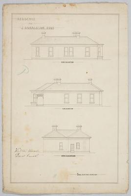 Residence for J Donaldson Esq