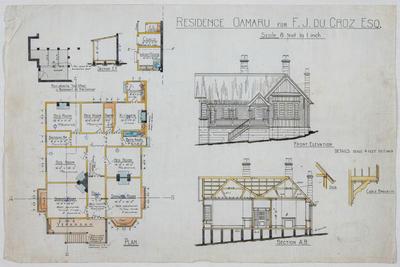 Residence Oamaru for F J Du Croz Esq