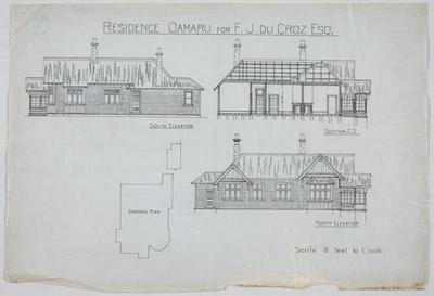 Residence Oamaru for J M Du Croz Esq