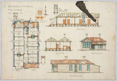Residence at Totara for Mr W Dunbar
