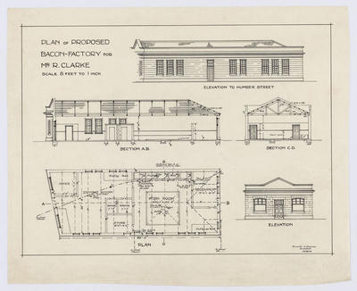 Plan of Proposed Bacon Factory For Mr R Clarke