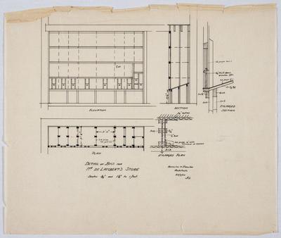 Detail of Bins for Mr De Lambert's Store