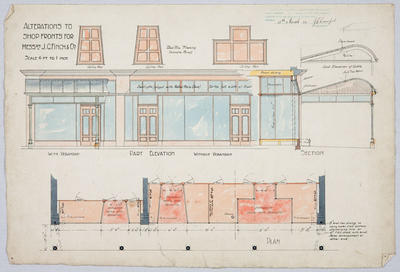 Alterations to Shop Fronts for Messrs J G Finch & Co