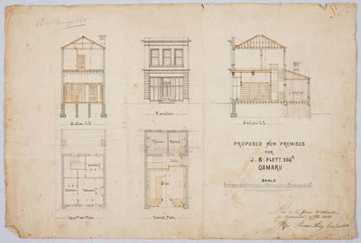 Proposed New Premises for J S Flett Esq, Oamaru