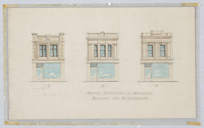 Sketch Elevations of Proposed Building for Mr Henderson