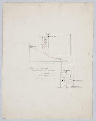 Plan of Drainage, Hill's and Dalzell's Property, Oamaru (Part Section 1 Block V, Wear St)