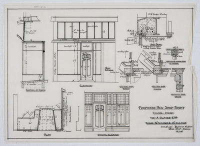 Proposed New Shop Front, Thames Street,  for A Slater Esq