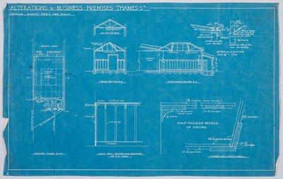Alterations to Business Premises, Thames St - Blueprint