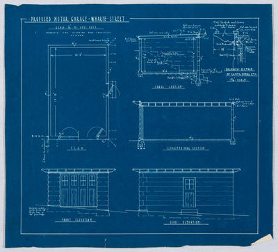 Proposed Motor Garage - Wharfe Street - Blueprint