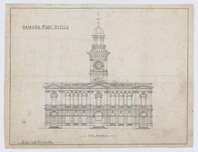 Oamaru Post Office - East Elevation