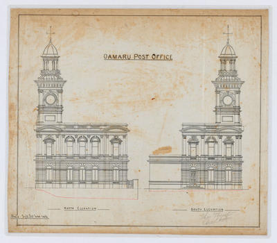 Oamaru Post Office - North Elevation and South Elevation (laminated)