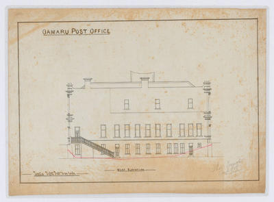 Oamaru Post Office - West Elevation (laminated)