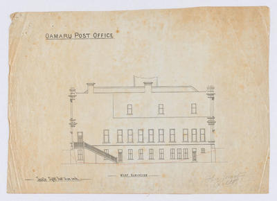Oamaru Post Office - West Elevation